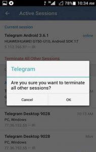 چگونه بفهمیم تلگرام هک شده