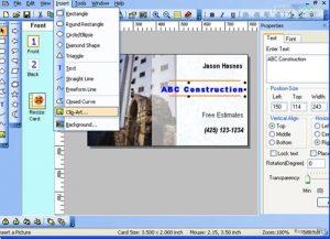 نرم افزار طراحی کارت ویزیت اندروید یا نرم افزار Business Card Designer
