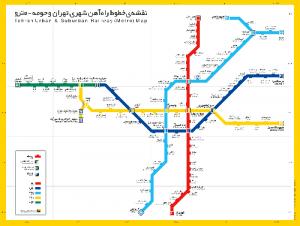 اپلیکیشن اندروید مسیریاب مترو تهران