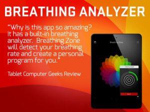 ویژگیهای نرم افزار سلامتی بدن یا برنامه breathing zone
