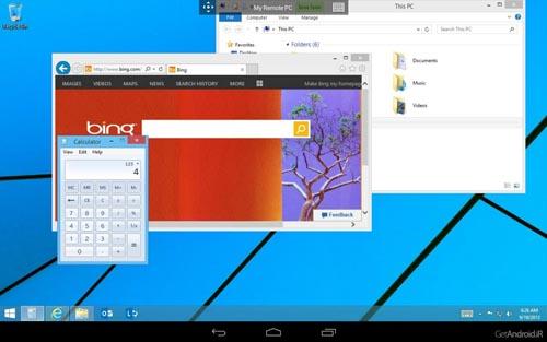 نرم افزار ریموت دسکتاپ برای اندروید یا نرم افزار Microsoft Remote Desktop