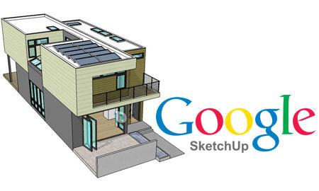 نرم افزار google sketchup و یا نرم افزار طراحی سه بعدی
