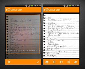 نرم افزار اسکنر اندروید یا برنامه اسکنر جنیوس Genius Scan PDF Scanner