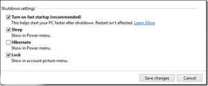 نحوه فعال سازی hibernate در ویندوز 8 با عکس