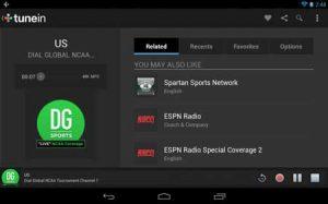نرم افزار tunein radio یا نرم افزار رادیو اینترنتی