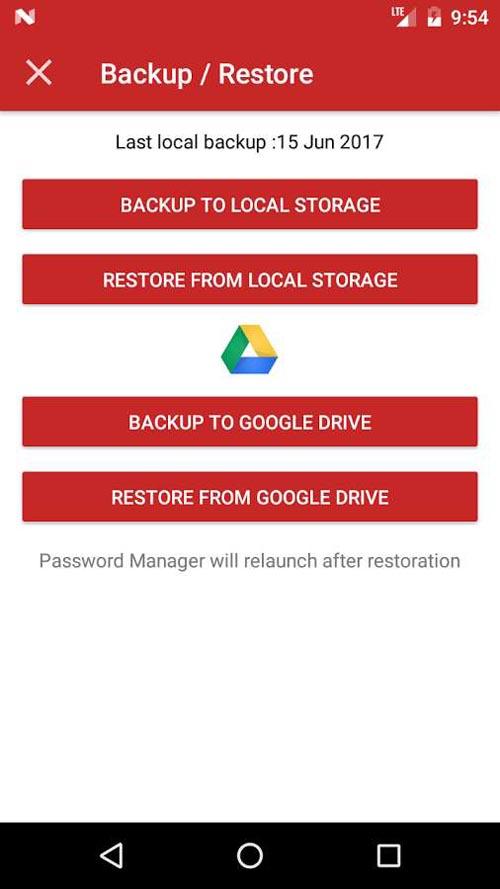 نرم افزار مدیریت رمز عبور اندروید Password Manager Plus : Fingerprint & Backup