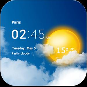برنامه آب و هوا برای موبایل Transparent clock & weather