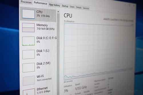 راهکار کاهش مصرف cpu در ویندوز 10